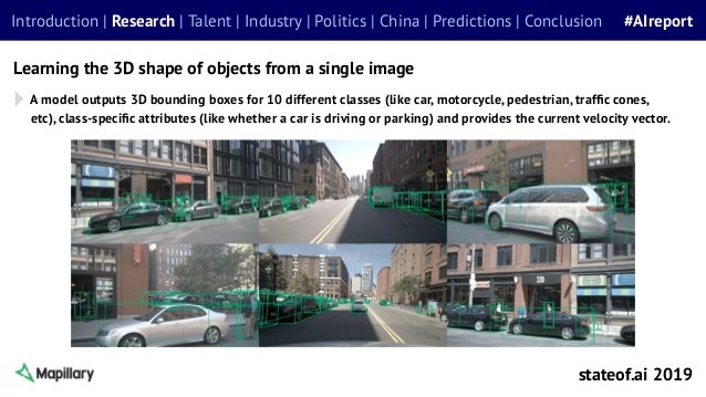 A model outputs 3D bounding boxes for 10 different classes (like car, motorcycle, pedestrian, traffic cones, etc), class-sp...
