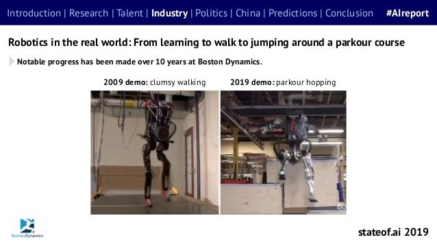 Notable progress has been made over 10 years at Boston Dynamics. Robotics in the real world: From learning to walk to jump...