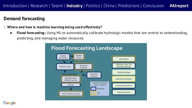 ● Flood forecasting: Using ML to automatically calibrate hydrologic models that are central to understanding, predicting, ...
