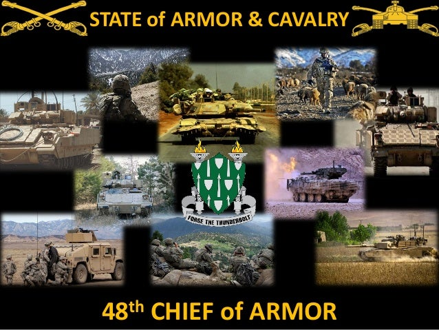 STATE of ARMOR & CAVALRY  th 48  CHIEF of ARMOR