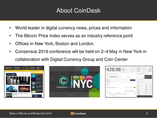 State of Bitcoin and Blockchain 2016 Slide 2