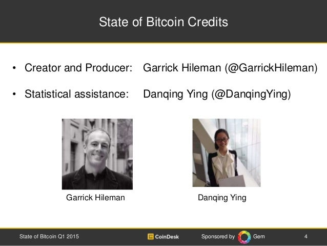 Sponsored by Gem State of Bitcoin Credits • Creator and Producer: Garrick Hileman (@GarrickHileman) • Statistical assistan...