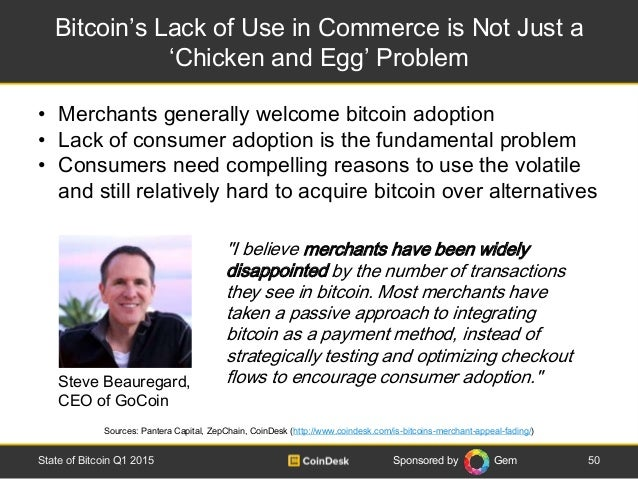 Sponsored by Gem Bitcoin's Lack of Use in Commerce is Not Just a 'Chicken and Egg' Problem 50State of Bitcoin Q1 2015 Sour...