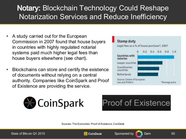Sponsored by Gem Notary: Blockchain Technology Could Reshape Notarization Services and Reduce Inefficiency 65State of Bitc...