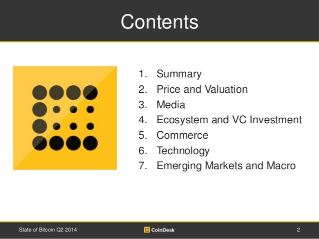 State of Bitcoin Q2 2014 Slide 2