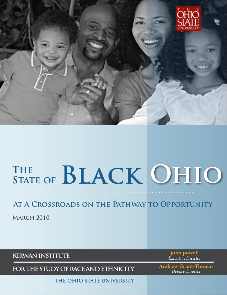 TheState of      Black OhioAt A Crossroads on the Pathway to OpportunityMarch 2010                                        ...
