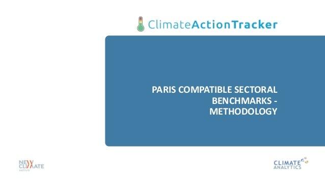 PARIS COMPATIBLE SECTORAL BENCHMARKS - METHODOLOGY