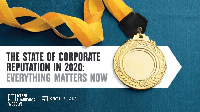 The State of Corporate Reputation in 2020 Logos: WS, KRC