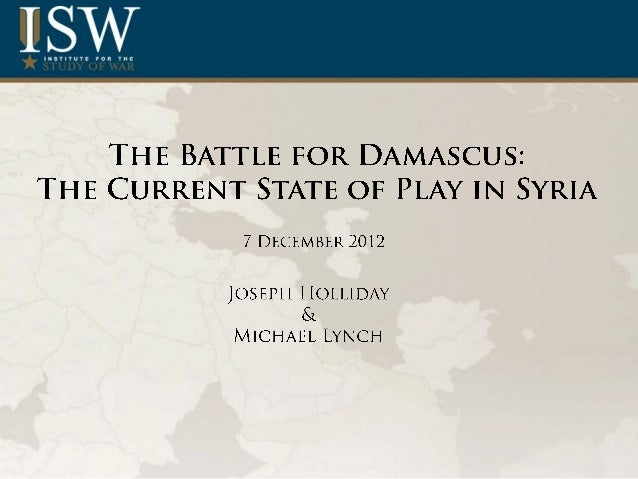 •   Recent rebel victories in the Syrian capital region, such as the closure of the Damascus International airport, have  ...