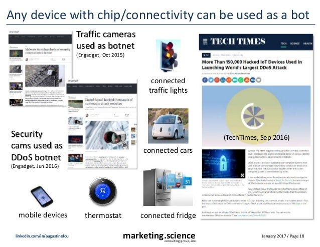 January 2017 / Page 18marketing.scienceconsulting group, inc. linkedin.com/in/augustinefou Any device with chip/connectivi...