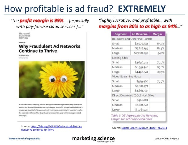 January 2017 / Page 2marketing.scienceconsulting group, inc. linkedin.com/in/augustinefou How profitable is ad fraud? EXTR...