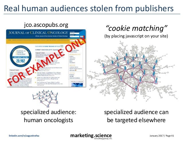 January 2017 / Page 41marketing.scienceconsulting group, inc. linkedin.com/in/augustinefou Real human audiences stolen fro...