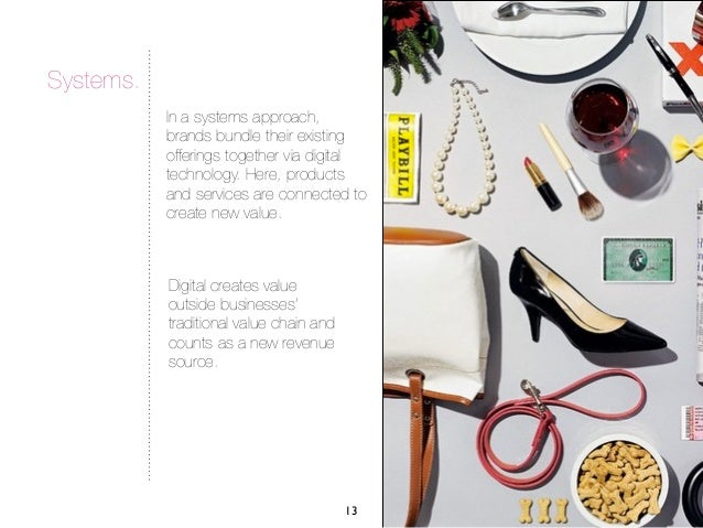 Systems.           In a systems approach,           brands bundle their existing           offerings together via digital ...