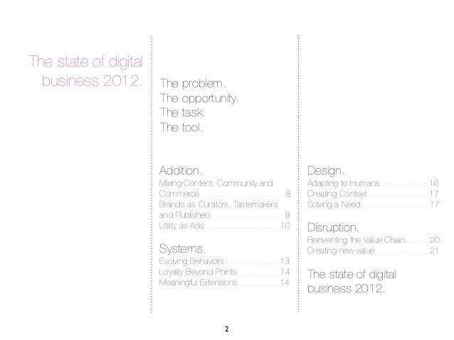 State of Digital Business 2012 Slide 2