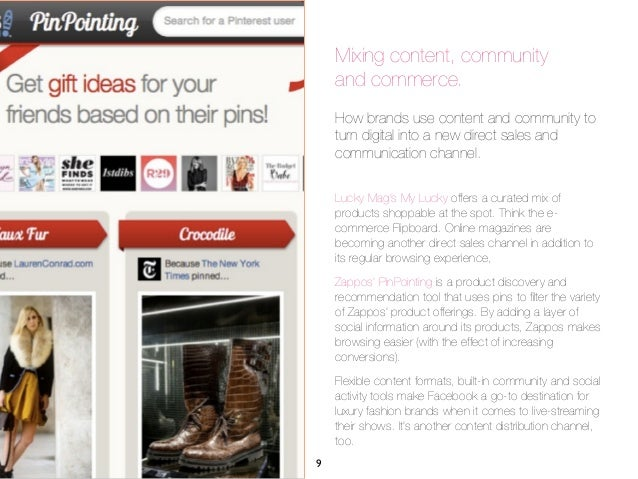 Mixing content, community    and commerce.    How brands use content and community to    turn digital into a new direct sa...