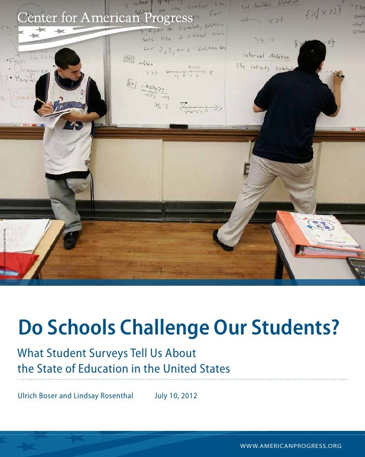 THe associated press/ Stephan Savoia                                       Do Schools Challenge Our Students?             ...