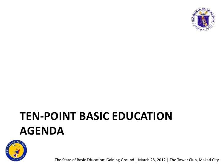 Education Secretary Leonor Magtolis Briones - Education Agenda