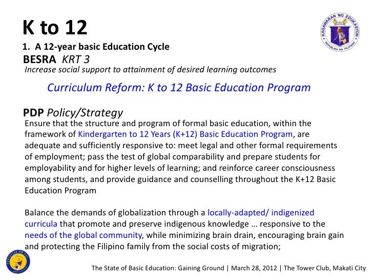 Research paper services k to 12 program in the philippines