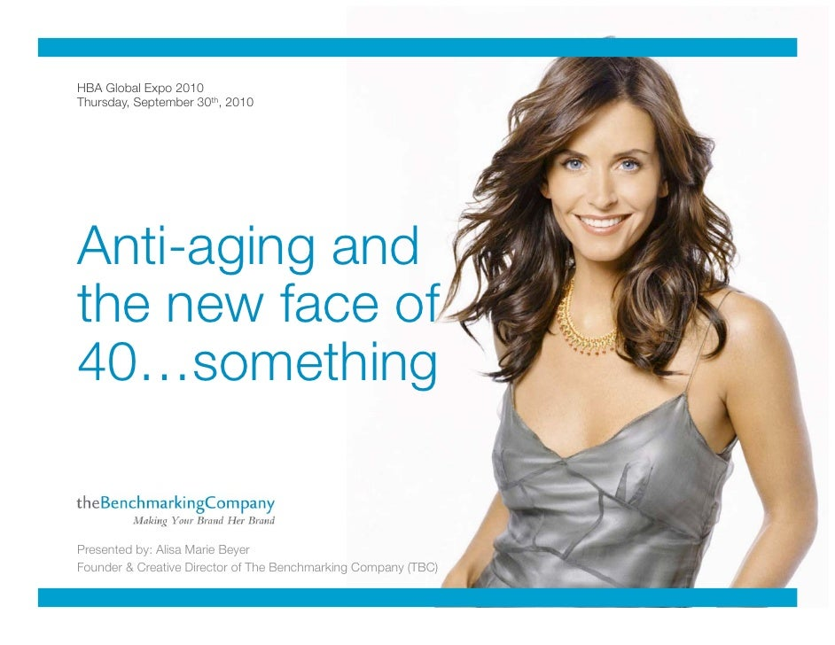 Anti-Aging and the New Face of 40...Something