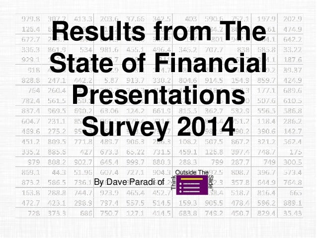 The State of Financial Presentations 2014 Survey Results