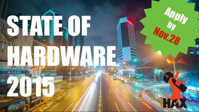 Applyby Nov.28 STATE OF HARDWARE 2015