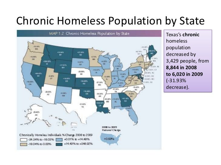 PNS The State Of Homelessness FW TX - Chronic homelessness across the us map