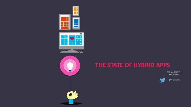 THE STATE OF HYBRID APPS RYAN J. SALVA MICROSOFT @ryanjsalva