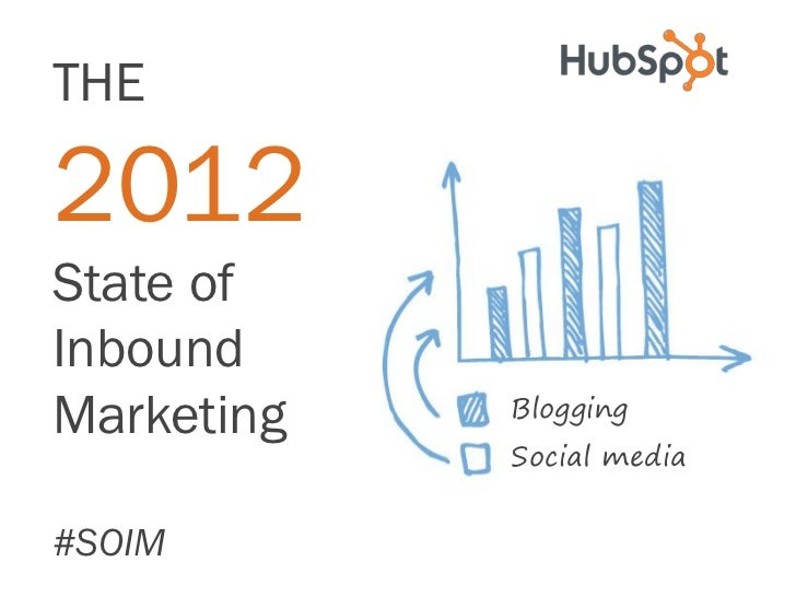 THE2012State ofInboundMarketing   Blogging            Social media#SOIM