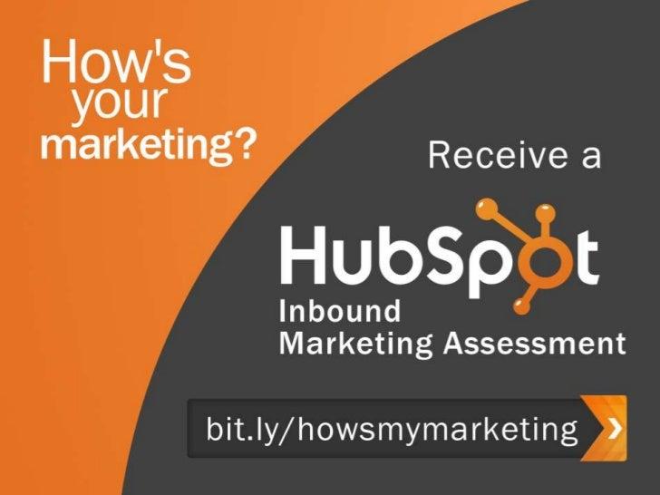 The 2012 State of Inbound Marketing Webinar