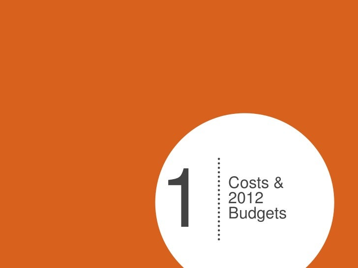 1   Costs &    2012    Budgets