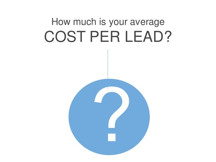 How much is your averageCOST PER LEAD?