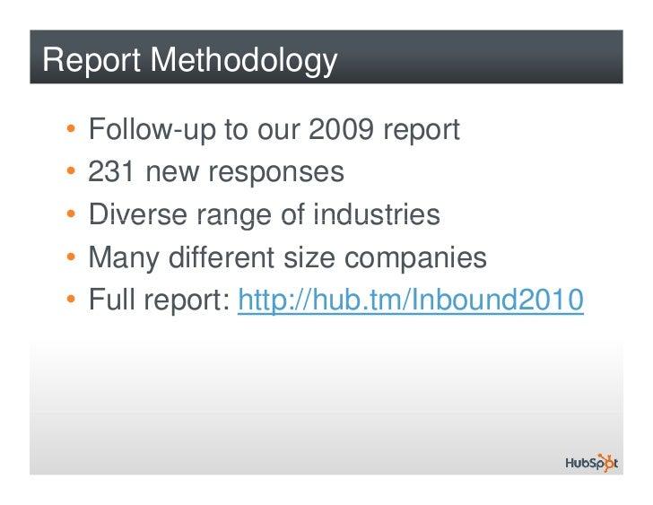 The State of Inbound Marketing 2010 Slide 2