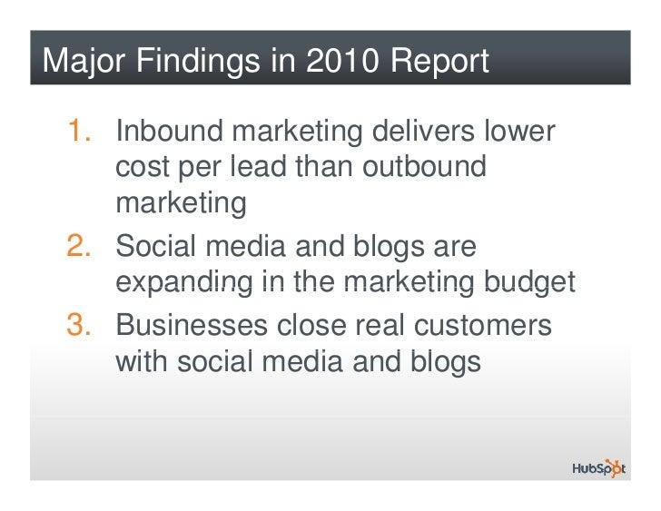 The State of Inbound Marketing 2010 Slide 3