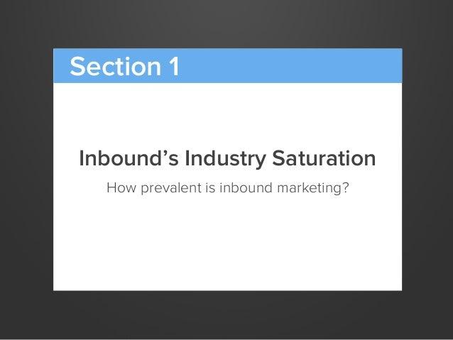Inbound's Industry SaturationHow prevalent is inbound marketing?Section 1