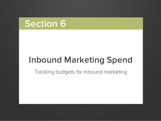 Inbound Marketing SpendTracking budgets for inbound marketingSection 6