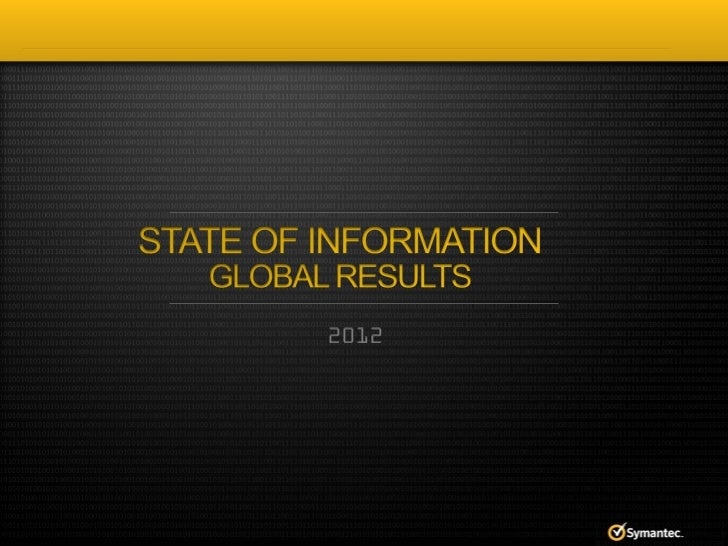 State of Information Survey 2012 Global Results