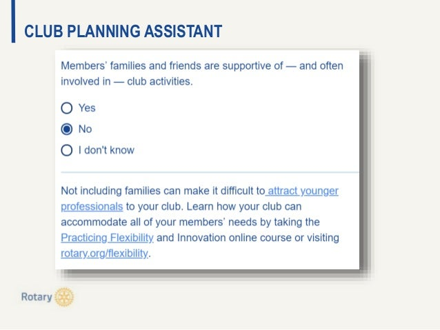 CLUB PLANNING ASSISTANT