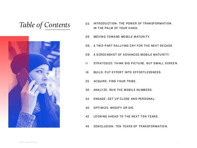2Adobe   2018 Mobile Study Table of Contents INTRODUCTION: THE POWER OF TRANSFORMATION. IN THE PALM OF YOUR HAND. MOVING T...