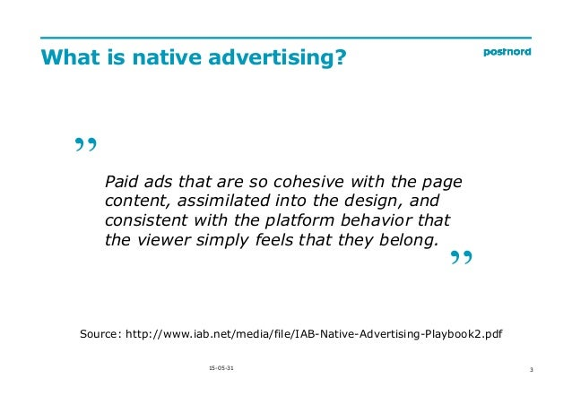 State of Native Advertising in Sweden by @PStaunstrup Slide 3