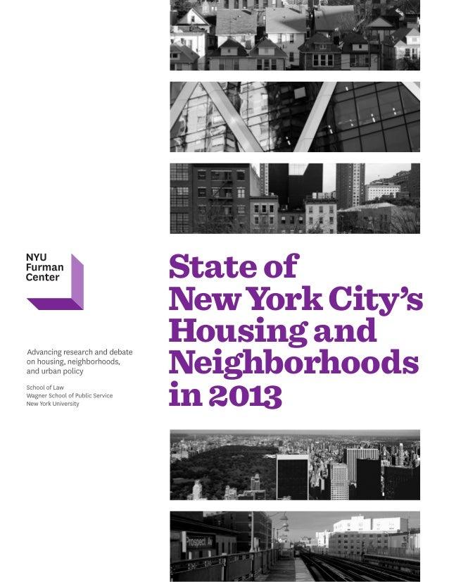 State of NewYork City's Housing and Neighborhoods in 2013