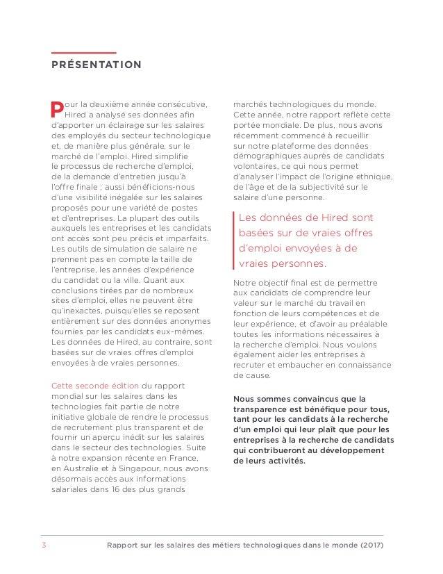 Rapport 2017 sur les salaires à l'international dans le secteur des technologies Slide 3