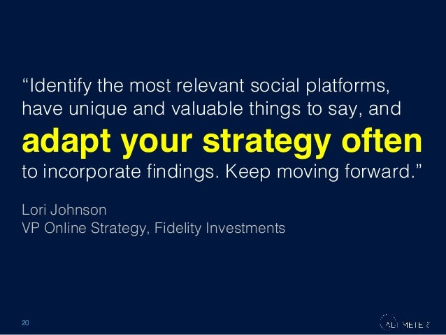 """Identify the most relevant social platforms, have unique and valuable things to say, and !  adapt your strategy often ! t..."