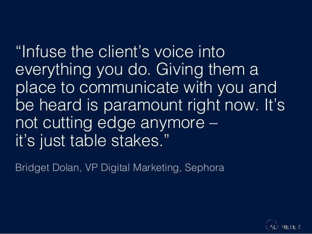 """""""Infuse the client's voice into everything you do. Giving them a place to communicate with you and be heard is paramount r..."""