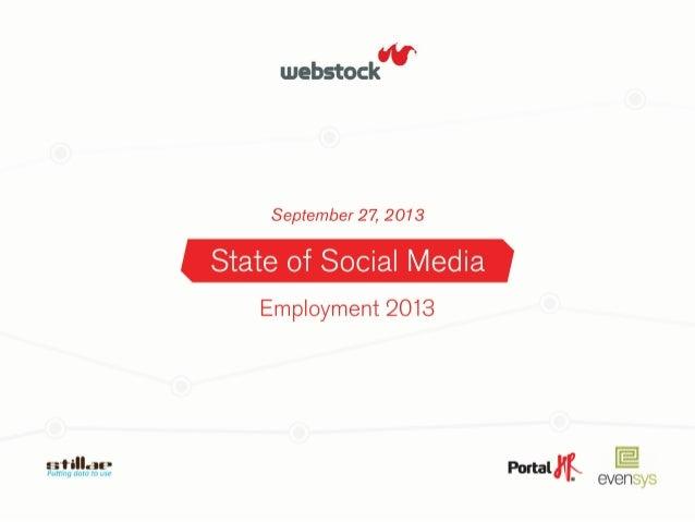 SOCIAL  MEDIA   Sta-s-ci  Linkedin     • Joburi  postate  500  anunturi,  50  Social  Media   • ...