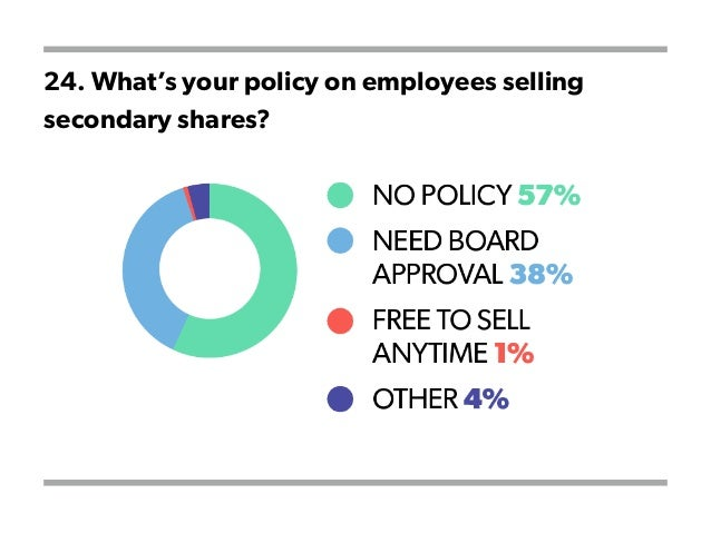 24. What's your policy on employees selling secondary shares?