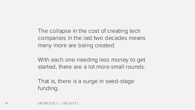40 The collapse in the cost of creating tech companies in the last two decades means many more are being created. With eac...