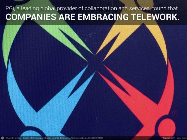 State of Telecommuting 2014   PGi Report Slide 3