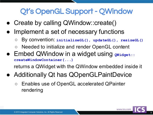 State of the Art OpenGL and Qt