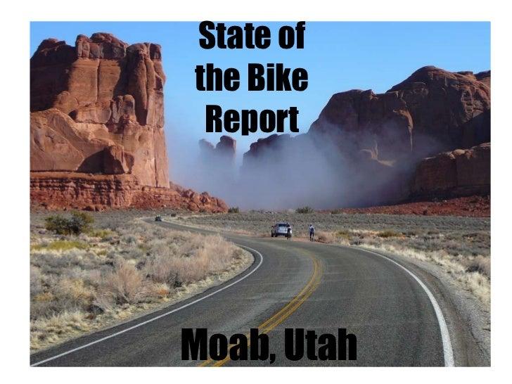 State of the Bike Report Moab, Utah