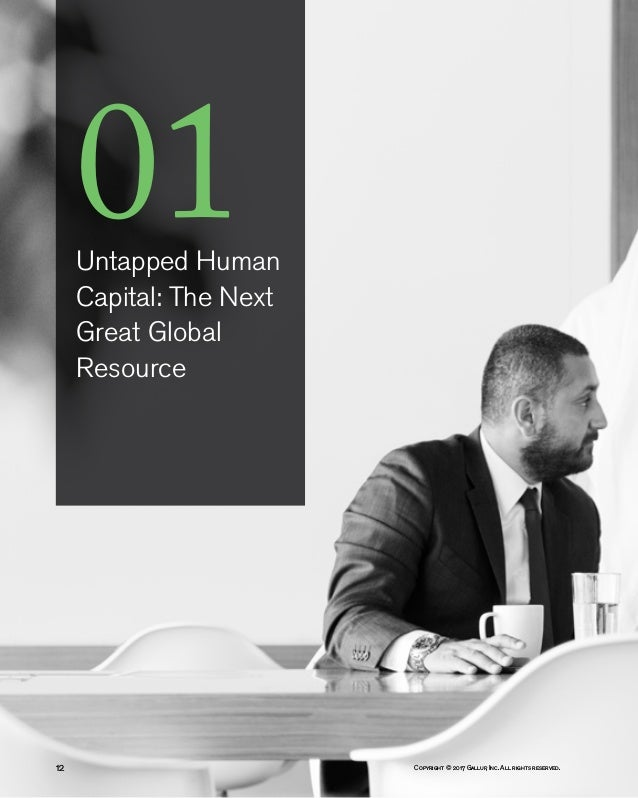 Copyright © 2017 Gallup, Inc. All rights reserved.12 01Untapped Human Capital: The Next Great Global Resource